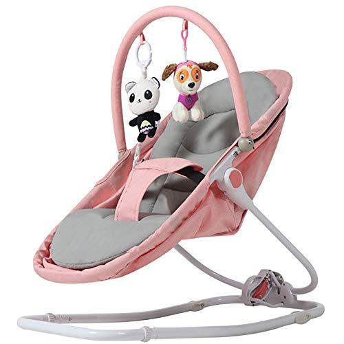 GZP Baby Türsteher Stuhl Und Hängematte, 3-Gang-Einstellung, Baby Schaukelstuhl Wiege Baby Komfort Stuhl Schaukelstuhl Schaukelbett Shaker Bett Stuhl Baby Schlaf Artefakt,Rosa