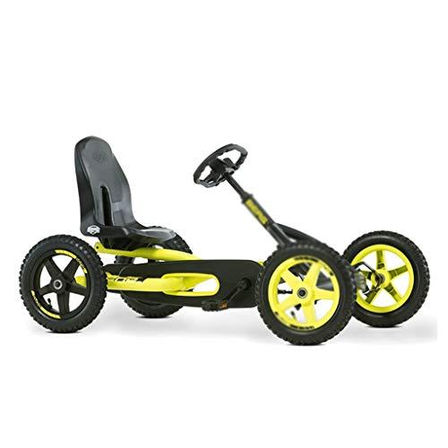 Junge Mädchen Fahrrad vierrädriges Kart Kinderwagen Spielzeug Kinderwagen Racing Lenkrad Design Sitz 3 Verstellbar, Kraftvoller Hinterradantrieb (Color : YELLOW, Size : 115 * 65 * 63CM)