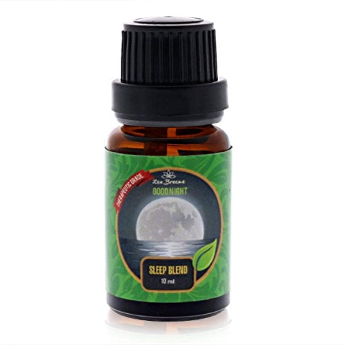 Zen Breeze Essential Oils Night Sleep Aid Blends - for Essential Oil Diffuser - Aromatherapy Essential Oils Blends - 100% Pure Therapeutic Grade - Good Night Restful Sleep Blend - 10 ml