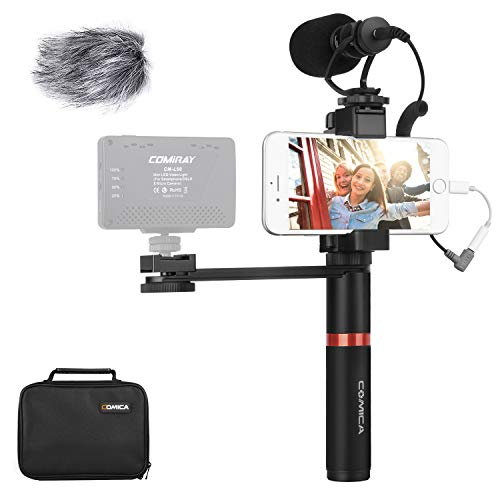 Kit de Video para teléfono Inteligente, micrófono para teléfono Inteligente Comica CVM-VM10-K4, micrófono de cámara para iPhone Samsung Huawei - Micrófono para Youtube, Tiktok, Vlogging