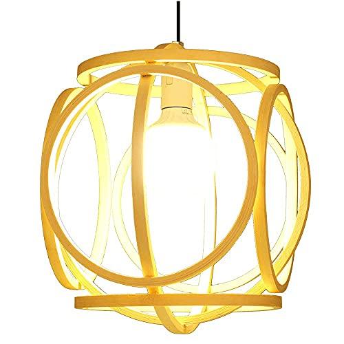 SHU. Personalità cinese Natural Bamboo Art Pendant Pendant Bamboo Lampada in vimini di vimini Bamboo Tessitura del ristorante Decorazione del ristorante Illuminazione nel sud-est asiatico Homestay Pla