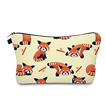 Cute Travel Makeup Bag Cosmetic Bag Small Pouch Gift for Women  Red Panda