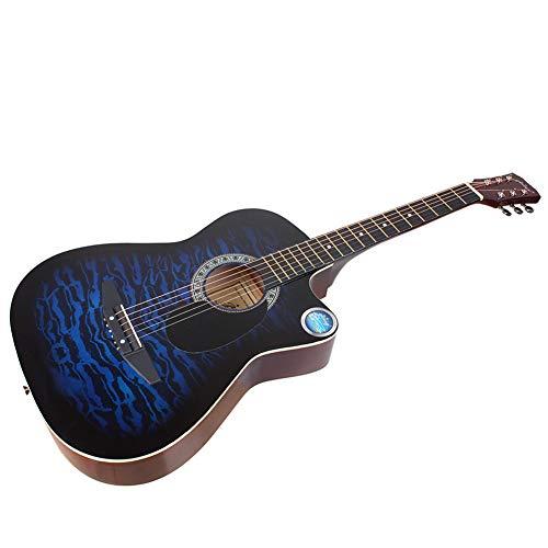 BLKykll Akoestische gitaar voor beginners (38 inch), houten gitaar, hoogwaardige Dreadnought-akoestische gitaar