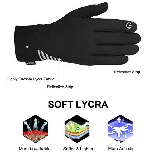 VBIGER Herren Touchscreen Handschuhe Anti-Rutsch Outdoor Sport Handschuhe Fahren Radfahren Handschuhe mit Fleece Liner für Herbst und Frühwinter - 6