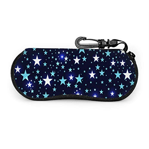 Seamless Pattern With Stars Deep Space Sunglasses Case Soft Ultra Light Portable Zipper Eyeglass Case Versatile Neoprene Customized