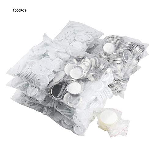 1000pcs Buttonrohlinge 58mm Abzeichen Knopf für Badgematic Buttonmaschine mit Flächen