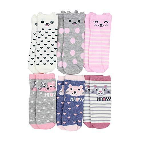 TupTam Kinder Socken Bunt Gemustert 6er Pack für Mädchen und Jungen, Farbe: Mädchen 10, Socken Größe: 21-23
