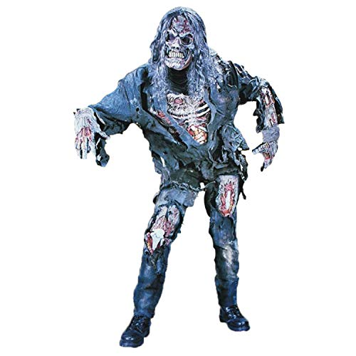 Vococal Costumi Zombie, Walking Dead Costume Zombie con Camicia Pantaloni Guanti Maschera per Halloween Party Cosplay Giochi di Ruolo Stage Performance Photography
