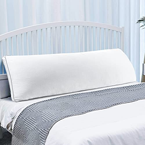 LuerJia Body Pillows for Adults and Pregnancy,Adjustable Soft Long Pillow-Superfine Polyester Fiber-Zipper,Breathable Bed Pillow for Side Sleeper-20 X 54 ,White