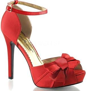 Fabulicious Women's Lumina36 Peep Toe Ankle Fashion Pump Blue