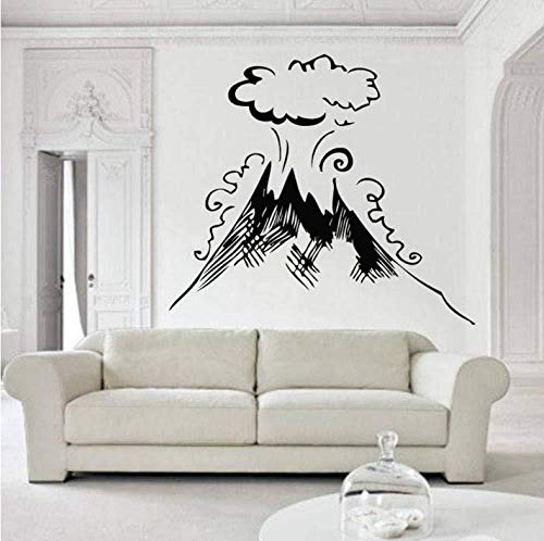 Wandaufkleber Wandtattoo Vulkan Vulkan natürliches Feuer Hawaii natürliches Vinyl Kunst Wandaufkleber Dekoration Wohnzimmer Büro Dekoration Kunst 48x42cm
