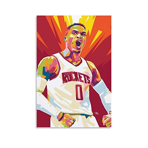Russell Westbrook - Póster decorativo de la NBA (60 x 90 cm)