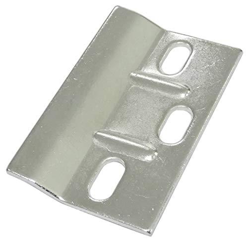 AERZETIX: 10x Placa Trasera de fijación para Colgar armarios Muebles de Pared 61/38mm C41528
