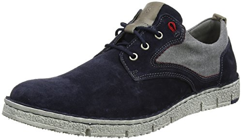 Josef Seibel Herren Ruben 01 Sneaker, Blau (Jeans-Kombi), 44 EU