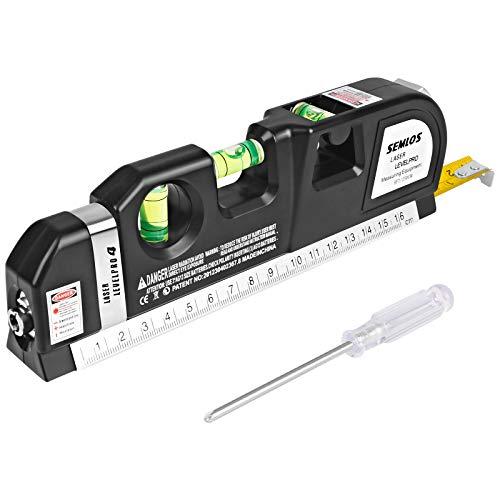 Láser nivelador y regla de medición Semlos, para múltiples usos (2,5m)