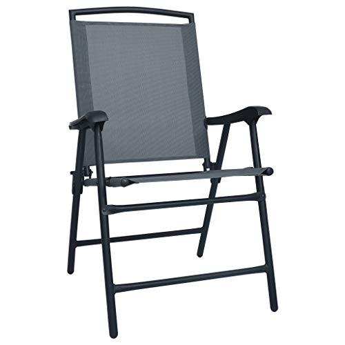 A-ZONE Mesa y sillas de bistró 3 Piezas Acero Gris