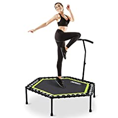 ☻NOTE☻---Trampoline equipment setup requires some physical labor-please read user manual or find the installation video by searching OneTwoFit in YOUTUBE for set-up and it is best having two people available set-up. ☻Adjustable T-shaped Handle☻--- De...