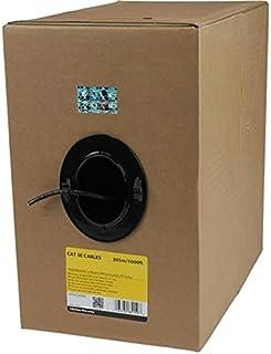 StarTech.com 1000 ft Bulk Roll of Black CMR Cat5e Solid UTP Riser Cable - Cat 5e Riser Cable - Cat.5e CMR Ethernet Cable -...