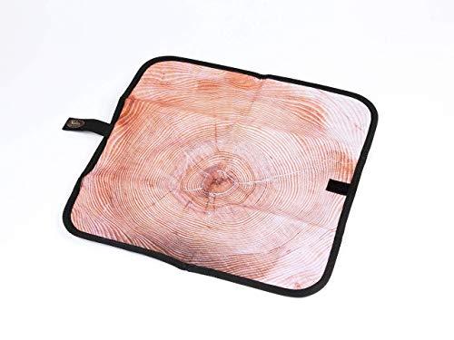 Veelax. Sitzunterlage Outdoor in Holzoptik I faltbares Sitzkissen für unterwegs I wasserfest I inkl praktischen Tragebeutel