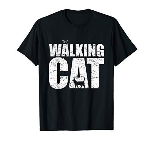 THE WALKING CAT Shirt | Silhouette Katze Dead Humor Vintage T-Shirt