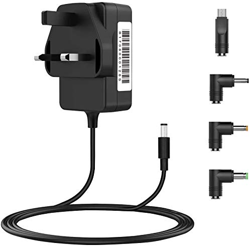 BENSN AC Power Adapter, Universal 5V 3A (Compatible with 2.5A / 2A / 1A etc.) DC Power Supply with 4 Selectable Adapter Tips for USB-HUB, Kindle Fire Tablet, Baby Monitor, Nextbook and Most 5V Devices