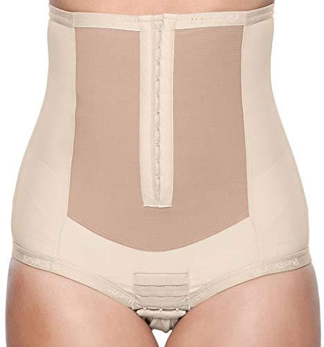 Bellefit Corset, Medical-Grade Adjustable Postpartum Corset with Front Hooks Beige