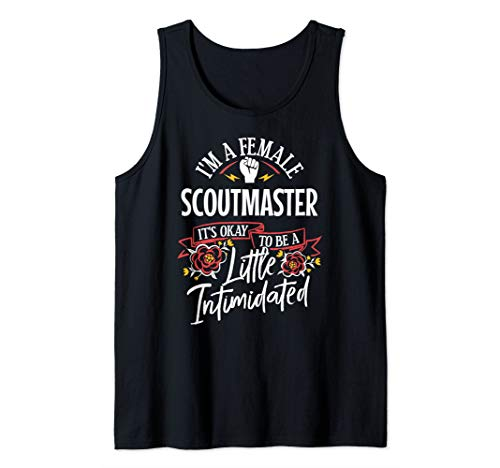 Strong Woman Scoutmaster Funny Birthday Gift Idea Tank Top