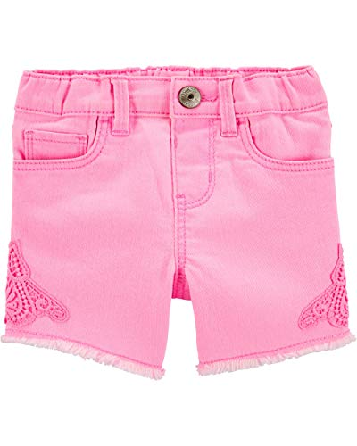 Osh Kosh Girls' Denim Shorts, Bubblegum Neon, 2T