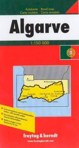 F&B Algarve: Wegenkaart 1:150 000