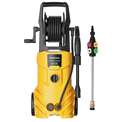 WestForce Electric Pressure Washer, 3000 PSI 1.85 GPM Power Washer, 1800 W High Power Cleaner with 5...