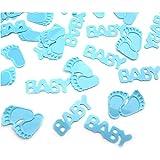 Sepkina Tischdeko Streudeko Konfetti babyparty Babyfüsse (Baby-Boy-Füße, 200)