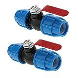 LOVIVER 2 Piezas Valvulas de PVC Válvulas de Fontanería 60-90 PSI - Núcleo de Acero 25 mm