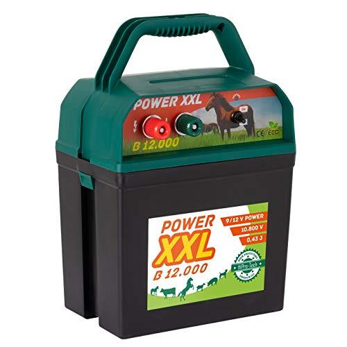 Power XXL B 12.000 Starkes Weidezaungerät 9V/12V Megapower, Elektrozaungerät für einen sicheren Weidezaun, Rind Pferd Pony Hund Katze Schaf Geflügel