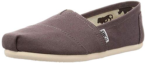 TOMS Women's Classic Alpargata Slip-On Shoe Ash Canvas 11 M