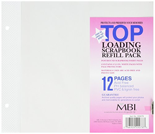 MBI 8x8 Inch Page Protectors (6pk) Top-Loading (899078)