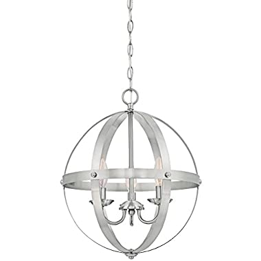 Westinghouse 6341900 Stella Mira Three-Light Indoor Chandelier, Brushed Nickel Finish