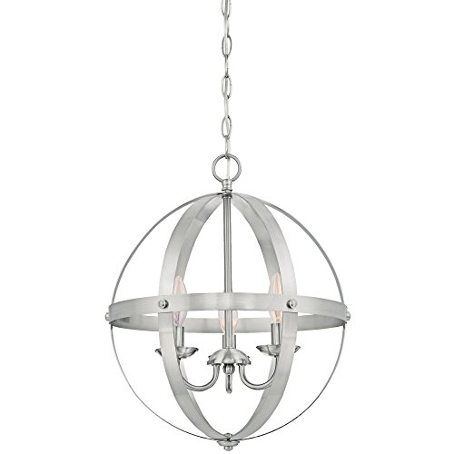 Westinghouse Lighting 6341900 Stella Mira Indoor Chandelier, 3-Light Pendant, Brushed Nickel