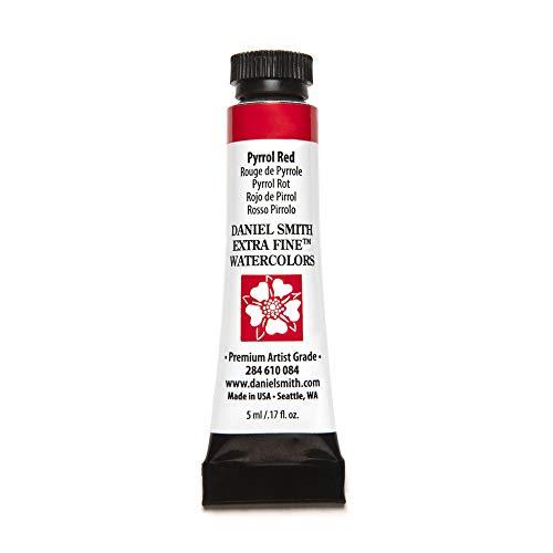 DANIEL SMITH 284610084 Extra Fine Watercolors Tube, 5ml, Pyrrol Red