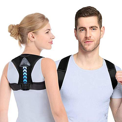 Correcteur de posture Soutien dorsal et correction de posture du dos Renfort Dorsal Respirant Ajustable Soulager les Douleurs Dorsales/Thoraciques