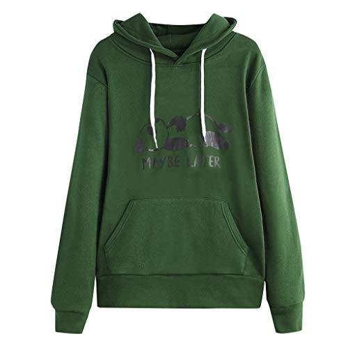 CixNy Sleeve Jumper Drawstring Sweatshirt Womens Tops Hoodie Ladies O Hooded Fashion Loose Neck Long Blouse Clothes Short Tops Pocket Pullover Print qGLSMpzjUV