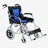 LOLRGV Aluminium Elektro-Rollstuhl Tragbarer Zusammenklappbarer Ultra Old Man Scooter Abnehmbarer,Blau -