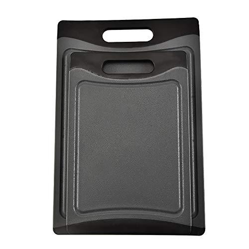 AMY Schneidebrett-Set, Kunststoff-Schneidebrett Mit Saftrille BPA-Frei/Non-Porous/Spülmaschinenfest Festigkeit Und Haltbarkeit Für Fleisch/Gemüse/Fisch/Kneten
