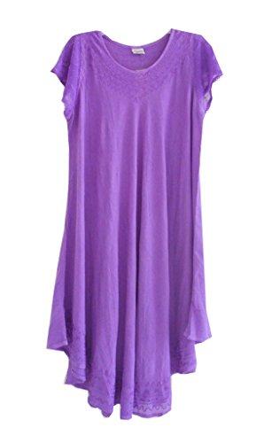 Advance Apparels Long Solid Umbrella Dress Lavender
