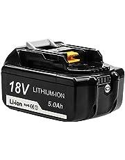 Topbatt BL1850 voor 18V Vervanging 5.0Ah Batterij BL1850B BL1850 BL1860 BL1860B BL1840 BL1830 BL1835 BL1845 BL1815 LXT-400