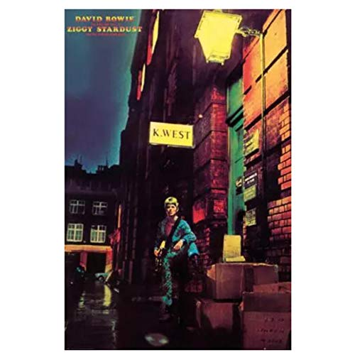 HJZBJZ David Bowie - Ziggy Stardust Retro Style Canvas Painting Poster Print On Canvas for Wall Art Decoration -20x28 inch No Frame 1 PCS