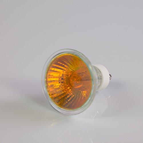 showking Deckenlampe 230V / 35W / Sockel GU - 10/25° / orange - farbiges Ersatz - Leuchtmittel für Deckenleuchten