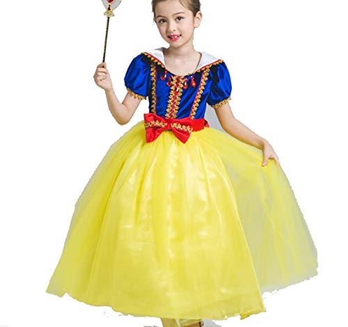 ZYLL Kinder Prinzessin Kleid, Party Fancy Dress Up Prinzessin Kleider FüR MäDchen Prinzessin KostüMe Prinzessin Dress Up Halloween KostüM Kleid FüR MäDchen,130CM