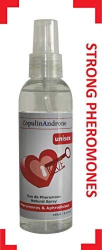 CopulinAndrone Eau de Pheromone natürliches Spray 150ml Unisex-Körpernebel ziehen Geschlecht an