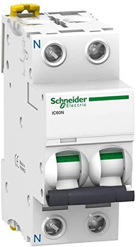Schneider Electric A9F79640 Interruptor Automático Magnetotérmico Ic60N, 1P+N, 40A, Curva C