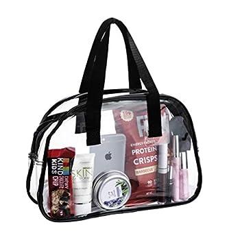 Clear Purse Stadium Approved Transparent Handbag Plastic Great for Work Events Makeup Sturdy Transparent Pocketbook